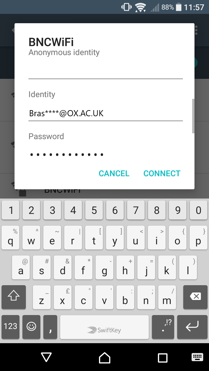 BNC Wifi – Connect Android | Brasenose College IT